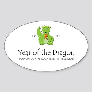 """""""Year of the Dragon"""" [2000] Oval Sticker"""